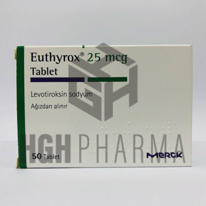 Picture of Euthyrox 25mcg 50 Tab