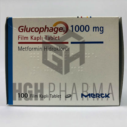 Picture of Glucophage 1000mg 100 Tablet