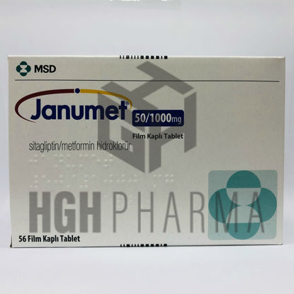 Picture of Janumet 50mg/1000mg 56 Tablet
