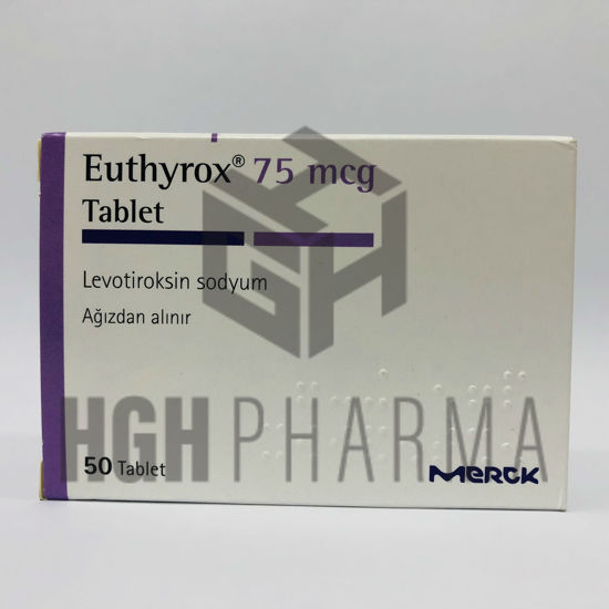 Picture of Euthyrox 75mcg 50 Tab