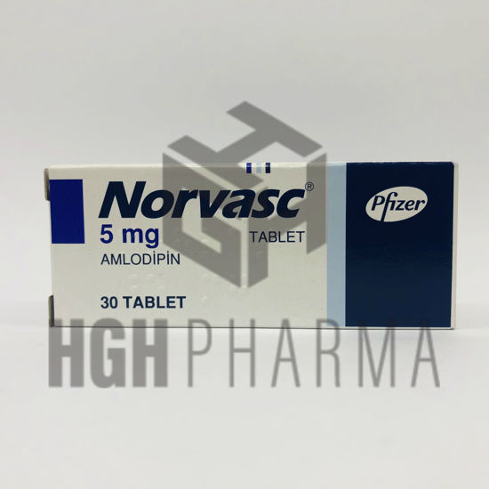 Picture of Norvasc 5mg 30 Tab