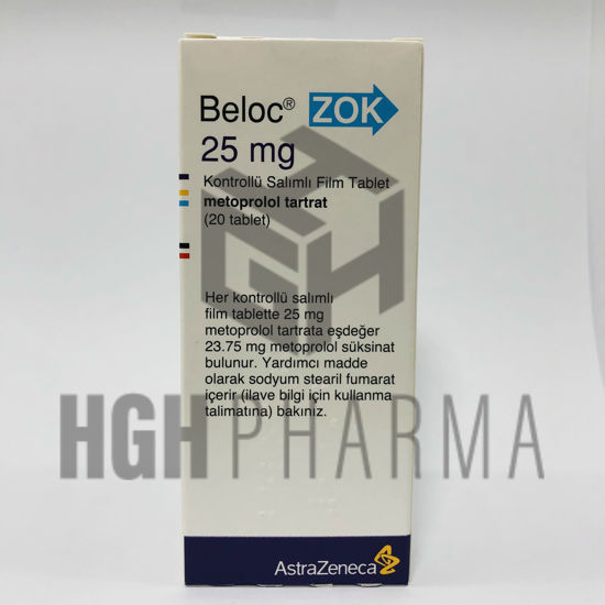 Picture of Beloc 25mg 20 Tab