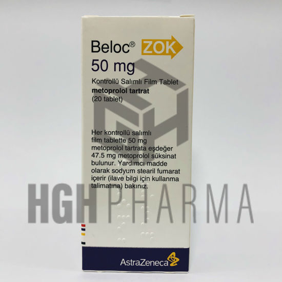Picture of Beloc 50mg 20 Tab