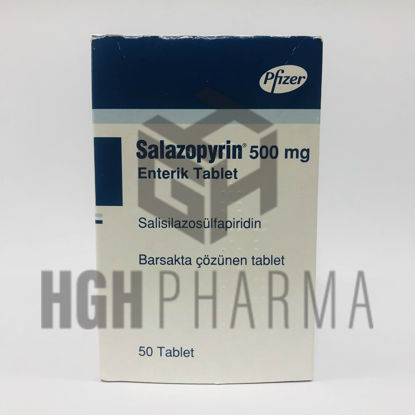 Picture of Salazopyrin 500mg 50 Tablet