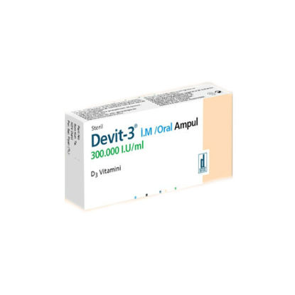 Picture of Devit-3 I.M./Oral 300.000 IU 1ml 1 Amp