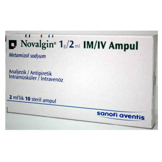 Picture of Novalgin IM/IV 1000mg/2ml 10 Amp