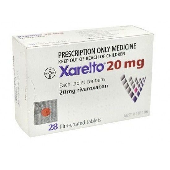 Picture of Xarelto 20mg 28 Tablet