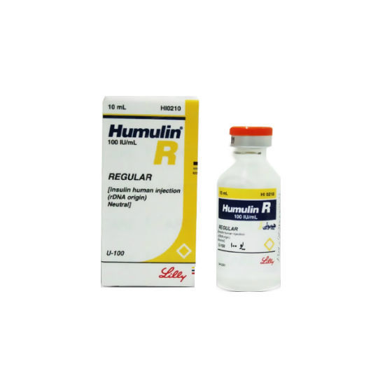 Picture of Humulin R 100IU 10ml 1 Vial